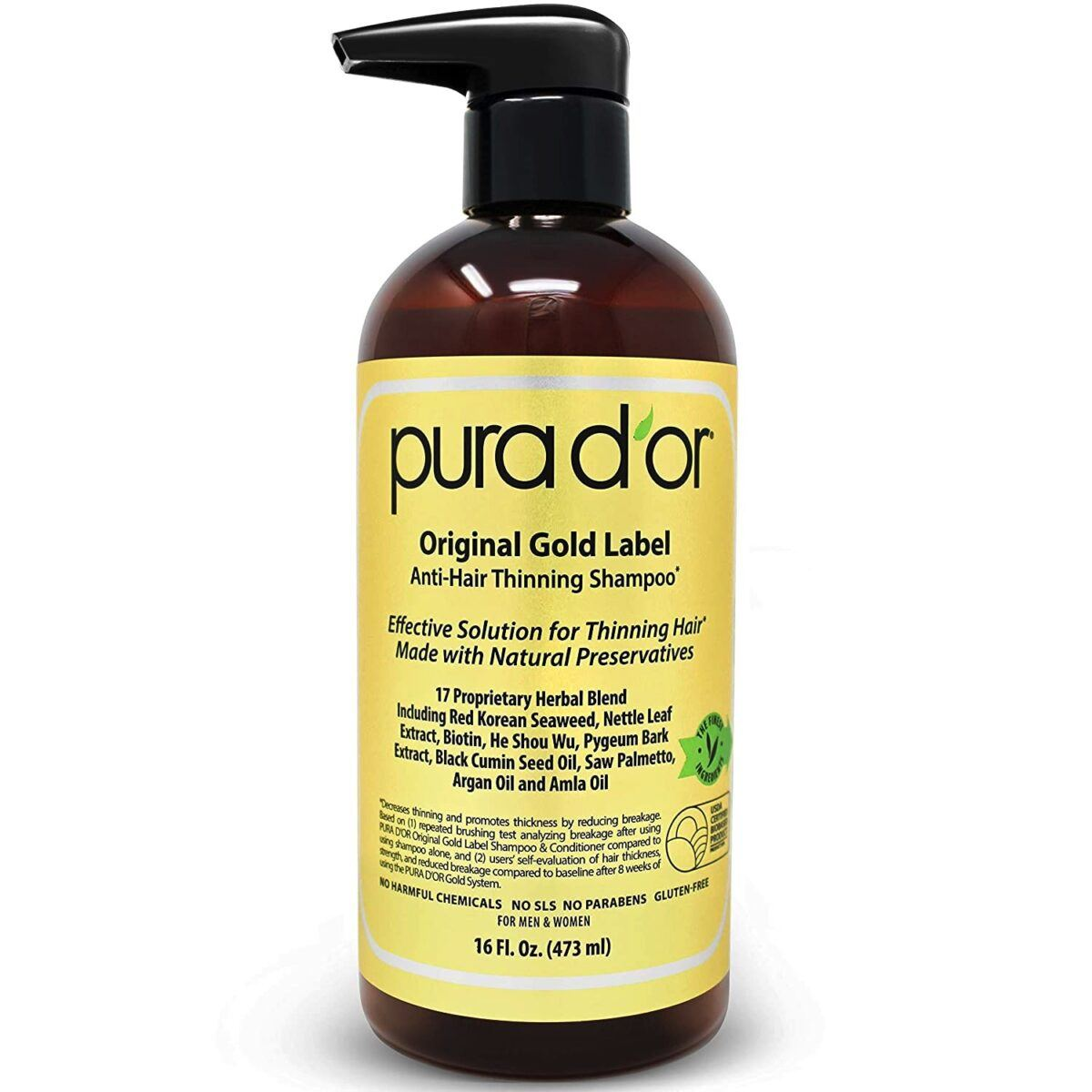 PURA D'OR Original Gold Label Anti-Thinning Shampoo Review