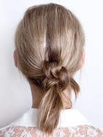double knot hairstyle